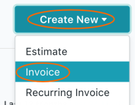 Create New GST Invoice