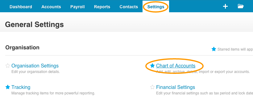 Xero Chart of Accounts - Currenct Assets - Online Invoice Payments