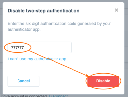 Enter your two step authentication 2fa from old google authenticator