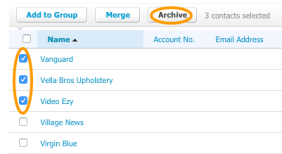 Archive Multiple Xero Contacts