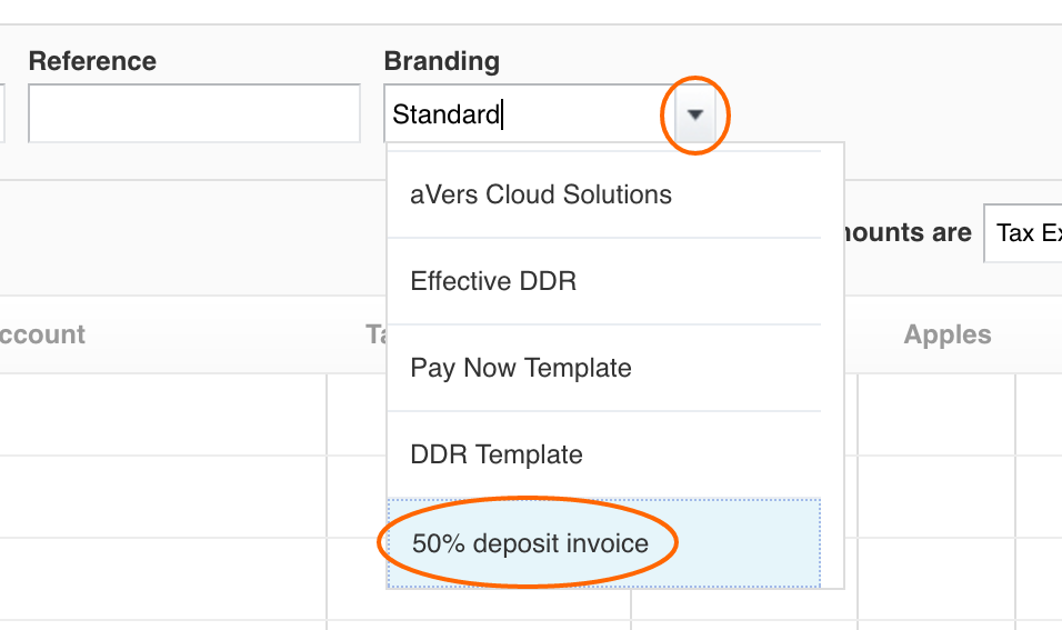 how to create a deposit invoice with xero custom template, Invoice templates