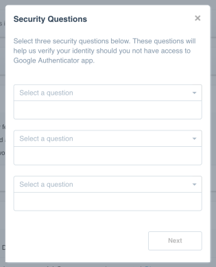 2SA three Security Questions