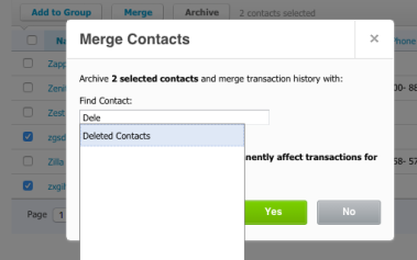 Merge Contacts to Deleted Contacts in Xero
