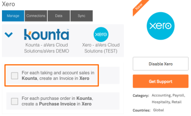 Integrating Sales and Payments Xero and Kounta