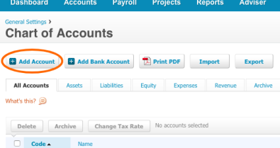 How to add Kounta Accounts to Xero