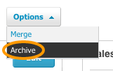 Archive Single Contact in Xero