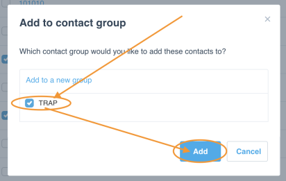 TPAR Report Contact Group in Xero