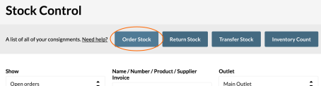 Stock Control Order Stock Purchase Order Vend