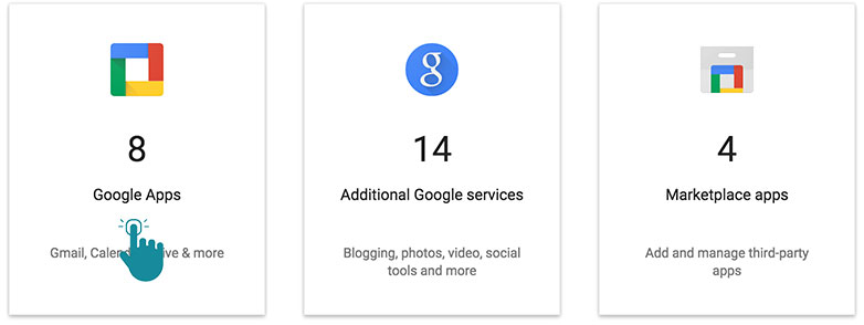 Google Apps For Business Services Covered by Agreement