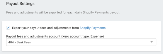 Payout Settings - Shopify Payment Fees