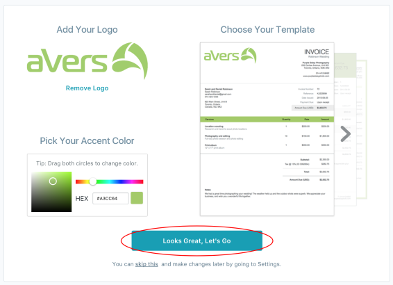 Editing style of your free professional invoice
