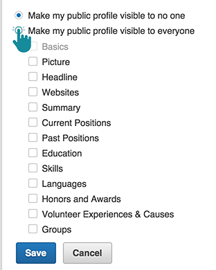 LinkedIn Make my Public Profile visible to everyone SEO