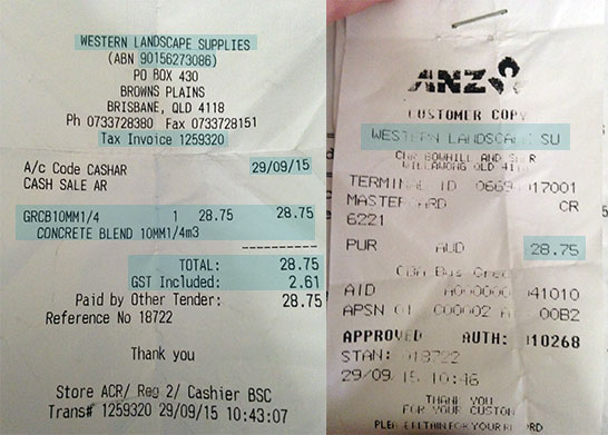 Difference Between Tax Receipt & Eftpos Docket