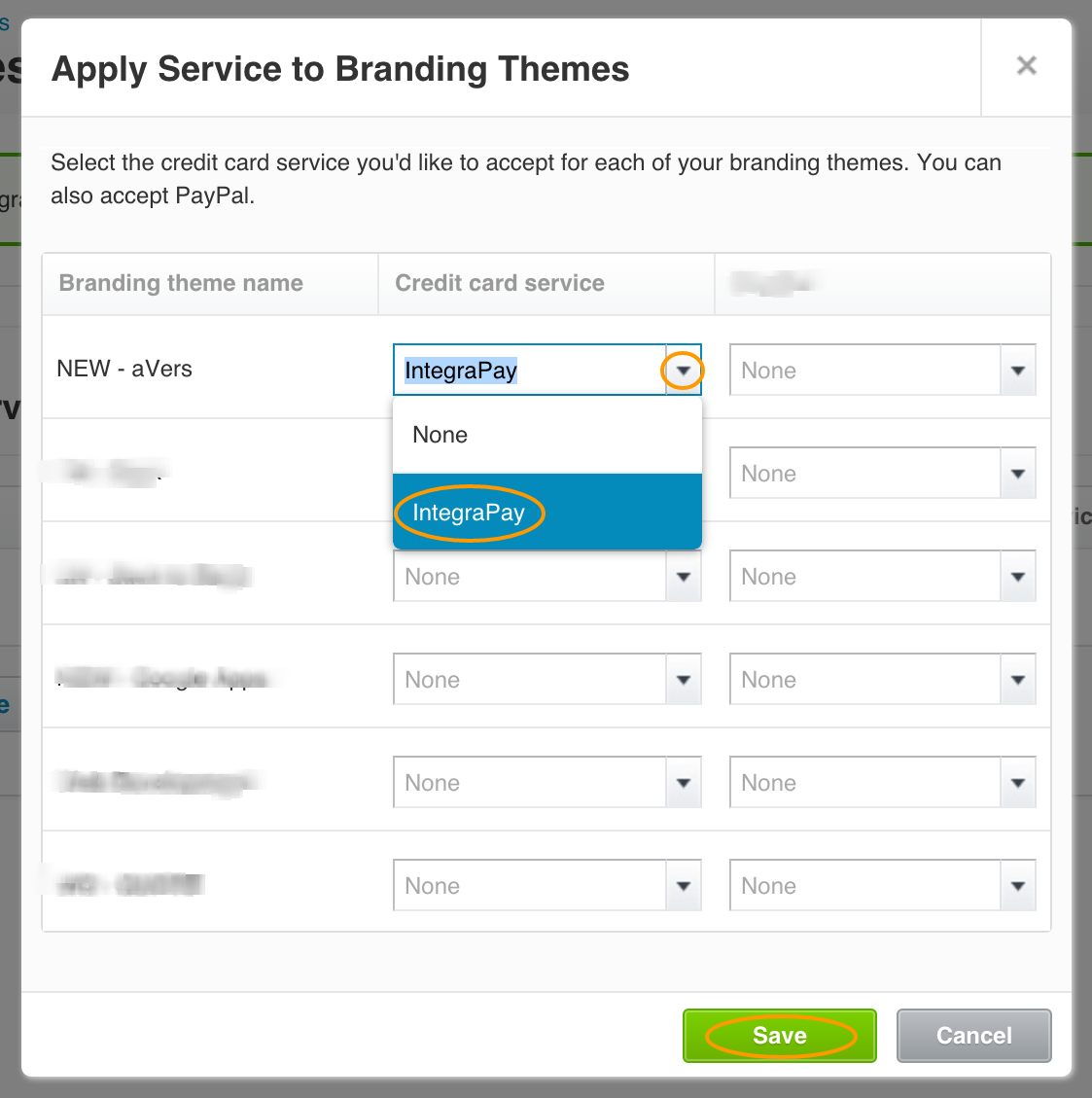 Online Payments Branding Themes Xero IntegraPay