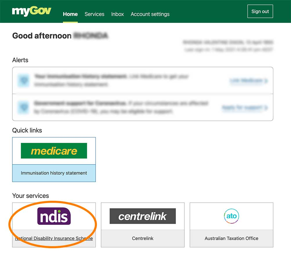 national disability insurance scheme myGov services download my plan