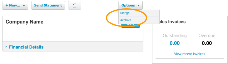 Deleting Contact in Xero Merge Contact and Archive Contact