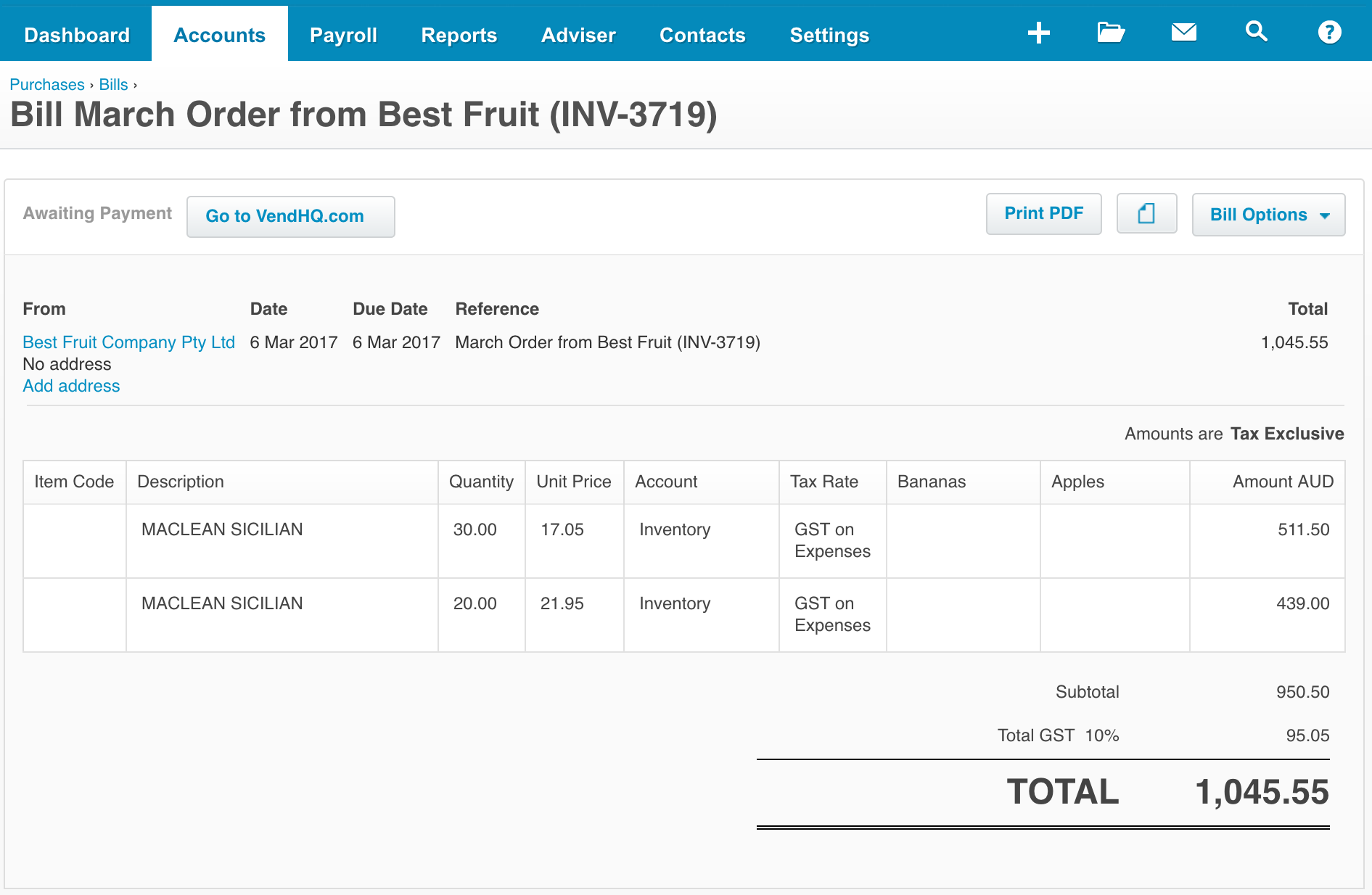 how to know if invoice reminders sent in xero