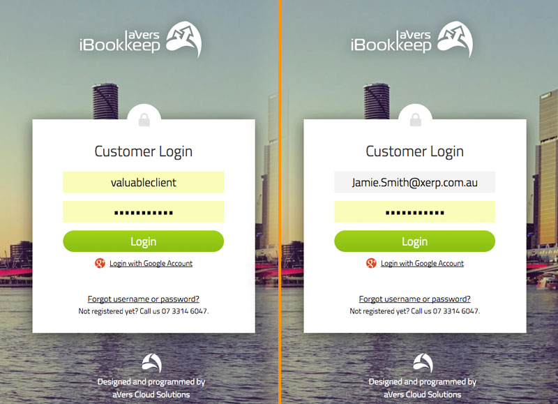 Login iBookkeep