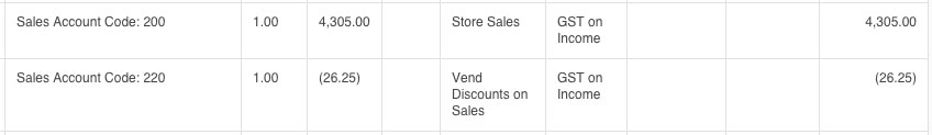 Xero Discount Import from Vend
