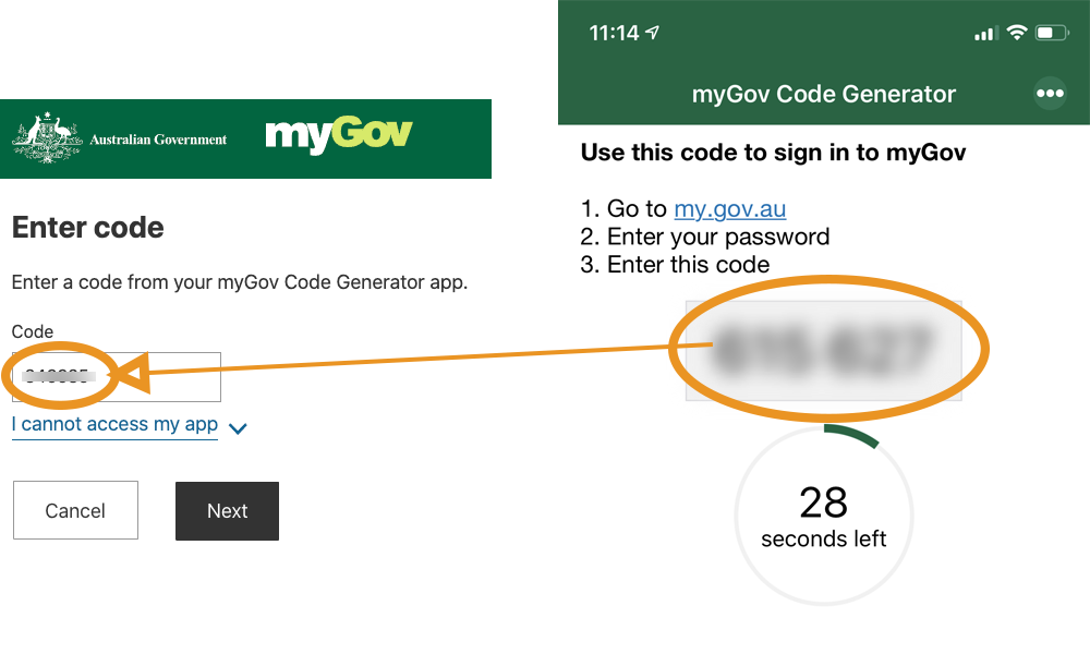Copy 2FA 2SA Code MyGov To Access Payment Summaries