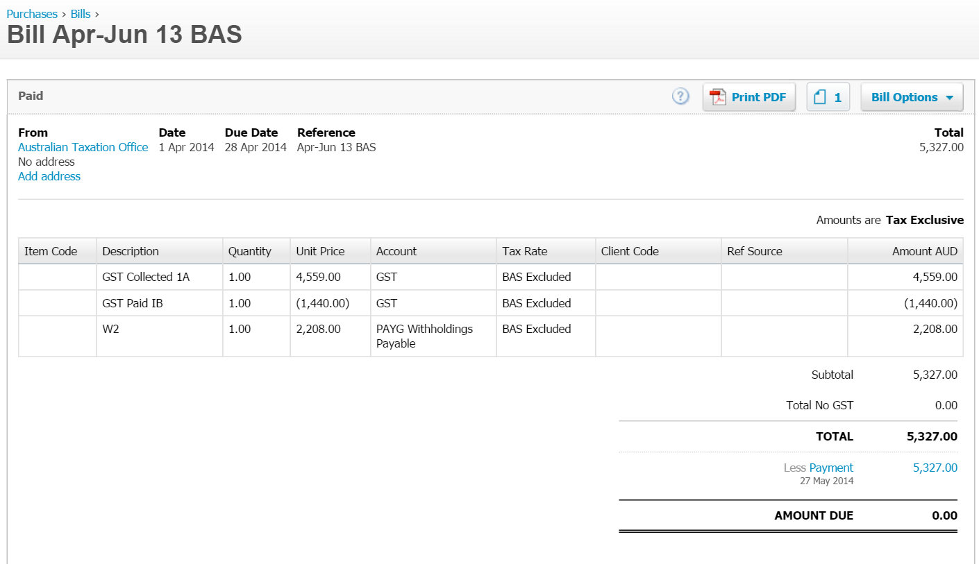 How to manage tax and BAS liabilities in Xero