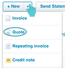 Xero Create New Quote
